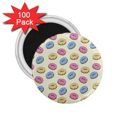 Donuts Pattern 2 25  Magnets (100 Pack)  by Valentinaart