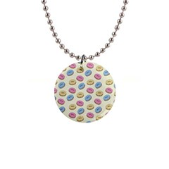 Donuts Pattern Button Necklaces