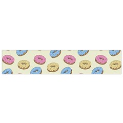 Donuts Pattern Small Flano Scarf by Valentinaart