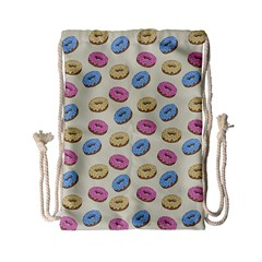 Donuts Pattern Drawstring Bag (small) by Valentinaart