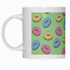 Donuts Pattern White Mugs