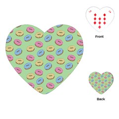 Donuts Pattern Playing Cards (heart) by Valentinaart
