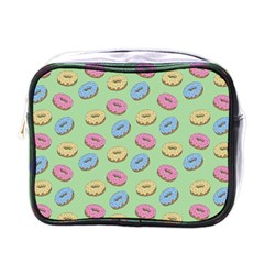 Donuts Pattern Mini Toiletries Bag (one Side)