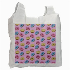 Donuts Pattern Recycle Bag (two Side) by Valentinaart