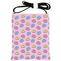 Donuts Pattern Shoulder Sling Bag by Valentinaart