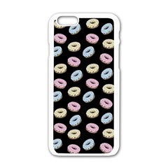 Donuts Pattern Apple Iphone 6/6s White Enamel Case