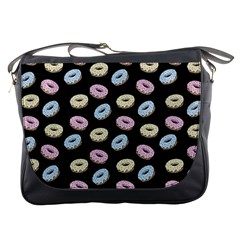 Donuts Pattern Messenger Bag by Valentinaart