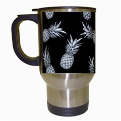 Pineapple Pattern Travel Mugs (white) by Valentinaart