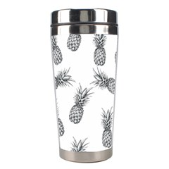 Pineapple Pattern Stainless Steel Travel Tumblers by Valentinaart
