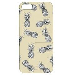 Pineapple Pattern Apple Iphone 5 Hardshell Case With Stand by Valentinaart