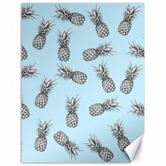 Pineapple Pattern Canvas 18  X 24  by Valentinaart