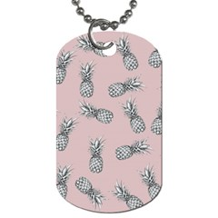 Pineapple Pattern Dog Tag (one Side) by Valentinaart