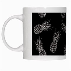 Pineapple Pattern White Mugs by Valentinaart