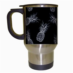 Pineapple Pattern Travel Mugs (white)