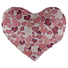 Sparkling Hearts 181 Large 19  Premium Heart Shape Cushions