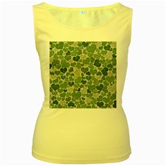 Sparkling Hearts 182 Women s Yellow Tank Top