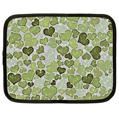 Sparkling Hearts 183 Netbook Case (xxl) by MoreColorsinLife