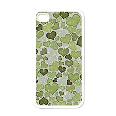 Sparkling Hearts 183 Apple Iphone 4 Case (white) by MoreColorsinLife