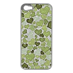 Sparkling Hearts 183 Apple Iphone 5 Case (silver) by MoreColorsinLife