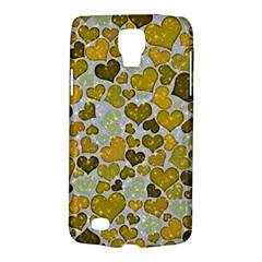 Sparkling Hearts Golden Samsung Galaxy S4 Active (i9295) Hardshell Case by MoreColorsinLife