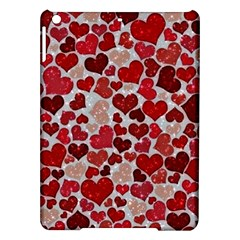 Sparkling Hearts, Red Ipad Air Hardshell Cases
