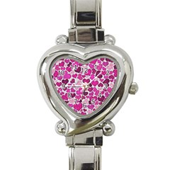 Sparkling Hearts Pink Heart Italian Charm Watch by MoreColorsinLife