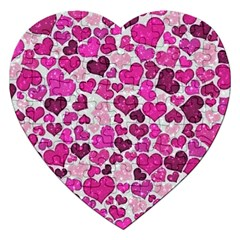 Sparkling Hearts Pink Jigsaw Puzzle (heart) by MoreColorsinLife