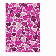 Sparkling Hearts Pink Large Garden Flag (two Sides) by MoreColorsinLife
