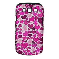 Sparkling Hearts Pink Samsung Galaxy S Iii Classic Hardshell Case (pc+silicone)