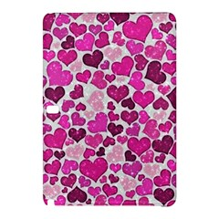 Sparkling Hearts Pink Samsung Galaxy Tab Pro 12 2 Hardshell Case by MoreColorsinLife