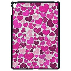Sparkling Hearts Pink Apple Ipad Pro 9 7   Black Seamless Case by MoreColorsinLife
