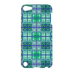 Mod Blue Green Square Pattern Apple Ipod Touch 5 Hardshell Case
