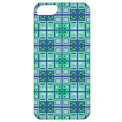 Mod Blue Green Square Pattern Apple Iphone 5 Classic Hardshell Case