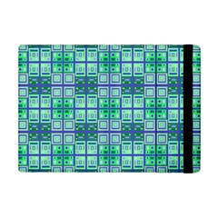 Mod Blue Green Square Pattern Apple Ipad Mini Flip Case