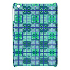 Mod Blue Green Square Pattern Apple Ipad Mini Hardshell Case