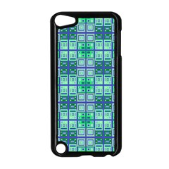 Mod Blue Green Square Pattern Apple Ipod Touch 5 Case (black)