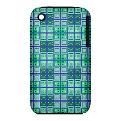Mod Blue Green Square Pattern Iphone 3s/3gs