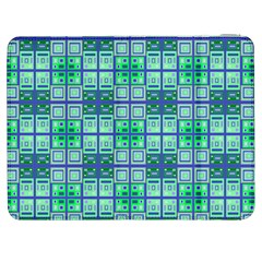 Mod Blue Green Square Pattern Samsung Galaxy Tab 7  P1000 Flip Case