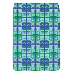 Mod Blue Green Square Pattern Removable Flap Cover (s)