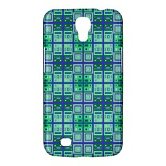 Mod Blue Green Square Pattern Samsung Galaxy Mega 6 3  I9200 Hardshell Case