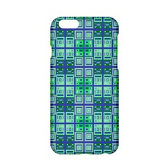 Mod Blue Green Square Pattern Apple Iphone 6/6s Hardshell Case
