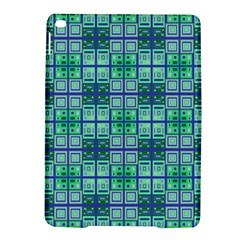 Mod Blue Green Square Pattern Ipad Air 2 Hardshell Cases