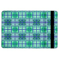 Mod Blue Green Square Pattern Ipad Air 2 Flip