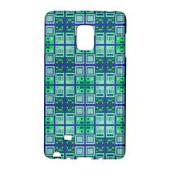 Mod Blue Green Square Pattern Samsung Galaxy Note Edge Hardshell Case