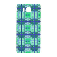 Mod Blue Green Square Pattern Samsung Galaxy Alpha Hardshell Back Case