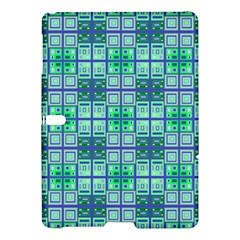 Mod Blue Green Square Pattern Samsung Galaxy Tab S (10 5 ) Hardshell Case