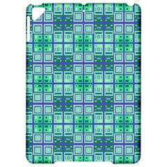 Mod Blue Green Square Pattern Apple Ipad Pro 9 7   Hardshell Case