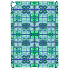 Mod Blue Green Square Pattern Apple Ipad Pro 12 9   Hardshell Case