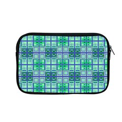 Mod Blue Green Square Pattern Apple Macbook Pro 13  Zipper Case