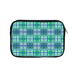 Mod Blue Green Square Pattern Apple Macbook Pro 15  Zipper Case